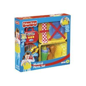 Its picnic time with Fisher Price! Within the basket is a B.B.Q., on which to grill the 2 chicken.. http://item.getenjoyment.net/redirect.php?id=B0016BOFQW