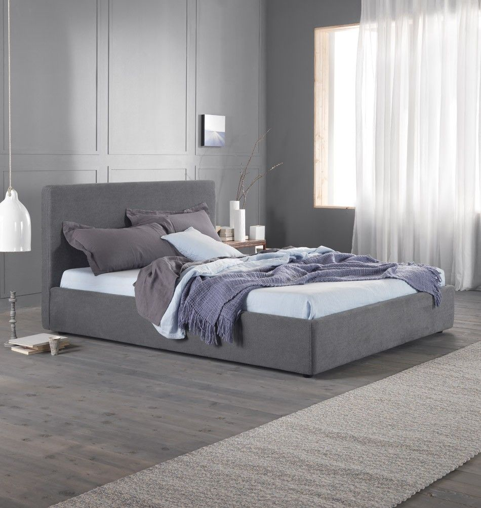modernes bett d 39 annunzio 180 cm grau italienisches polsterbett betten. Black Bedroom Furniture Sets. Home Design Ideas