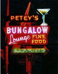 Petey's Bungalow Lounge ~ Oak Lawn, IL.  Nightime