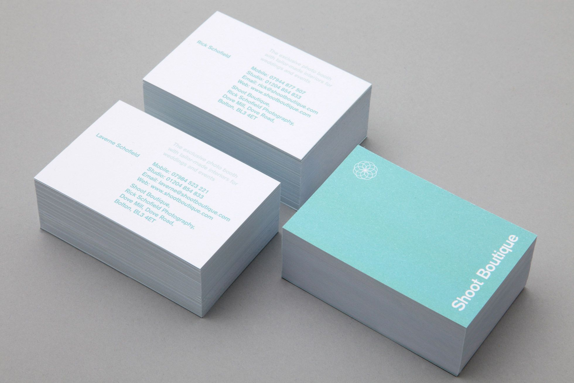 shoot boutique business cards by very own studio