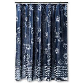 Batik Shower Curtain Indigo Nate Berkus Stylish Shower Curtain Blue Shower Curtains Curtains