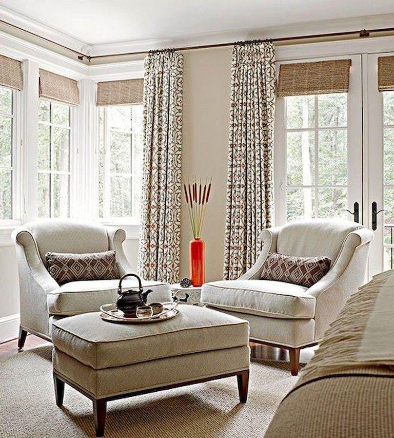 45 comfy modern farmhouse living room curtains ideas