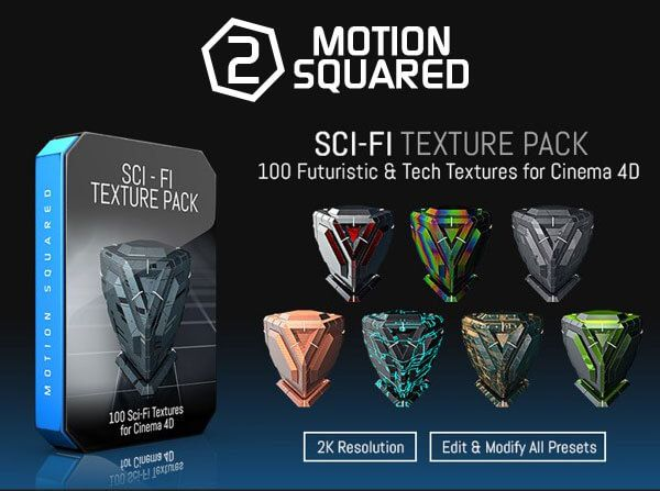 Motion Squared Sci-Fi Texture Pack for Cinema 4D