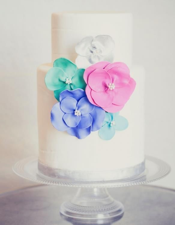 spring wedding cake