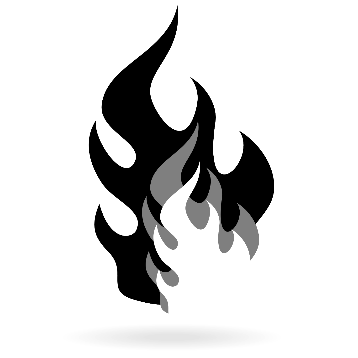 Black Flame Vector Download Free Vector At Shmector Com Black And White Drawing Fire Icons Fire Image