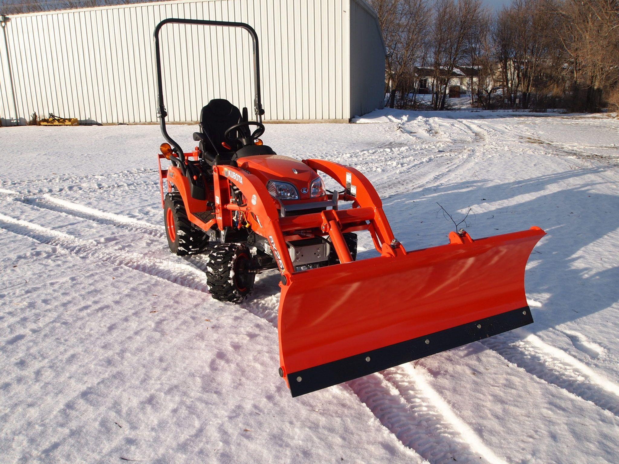 Tractor Bucket Attachments : Kubota bx rock bucket attachment snow plow