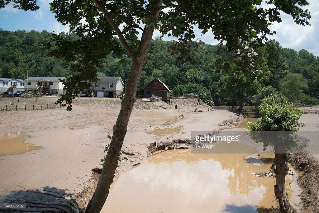 Farm Land And Crops Are Covered By Mud From The Flooding Of The Elk West Virginia Flood Farmland