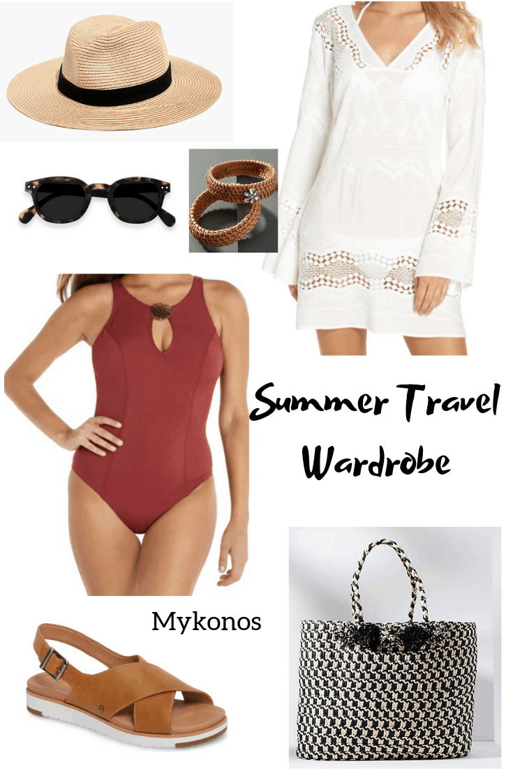 Summer Travel Wardrobe Mix and Match Outfits #travelwardrobesummer