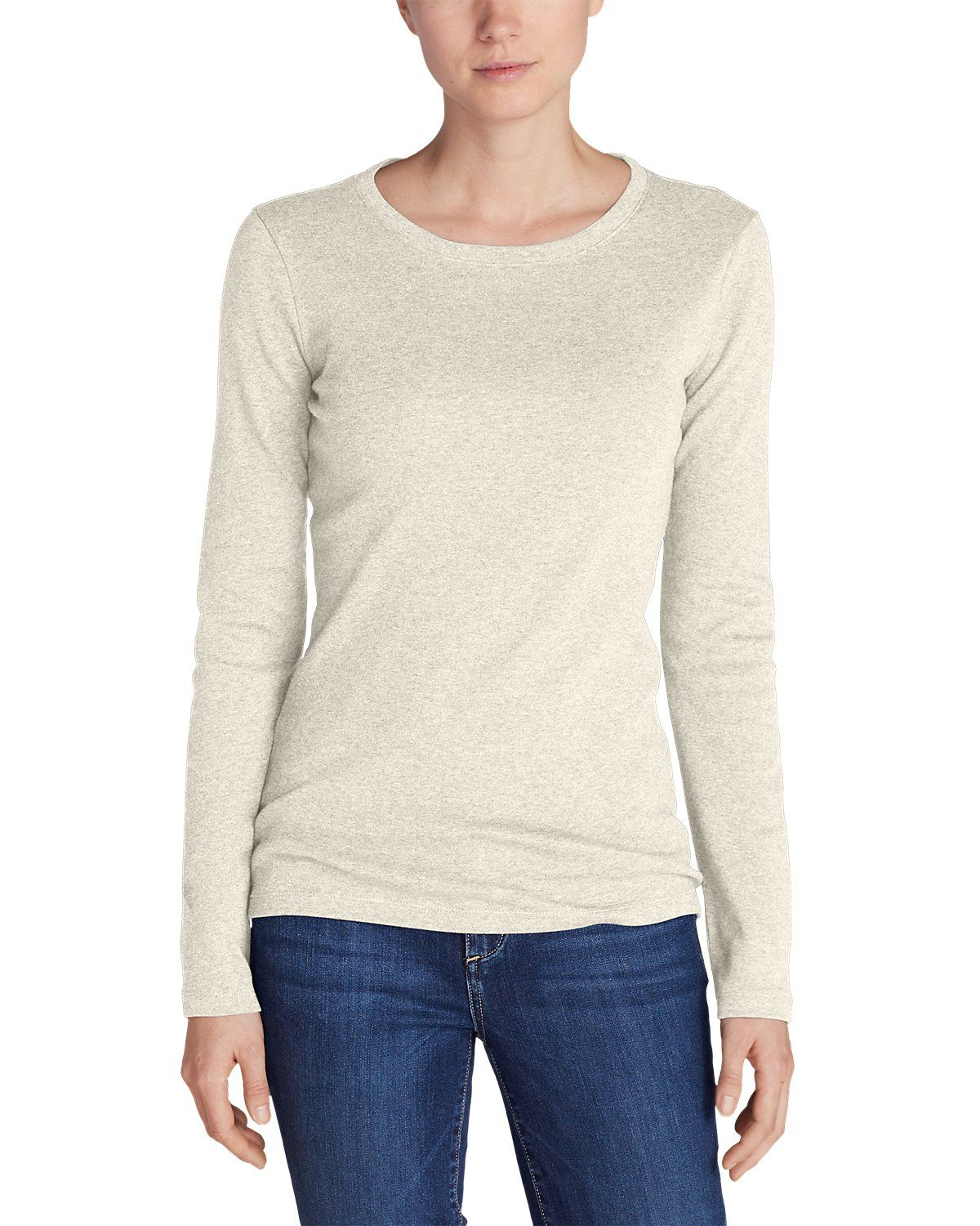 Women's Favorite Long sleeve Crewneck T shirt | Eddie Bauer