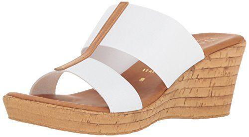 7f50872e11b1 Italian-Shoemakers-Womens-Golden-Wedge-Sandal-White-5-M-US-0