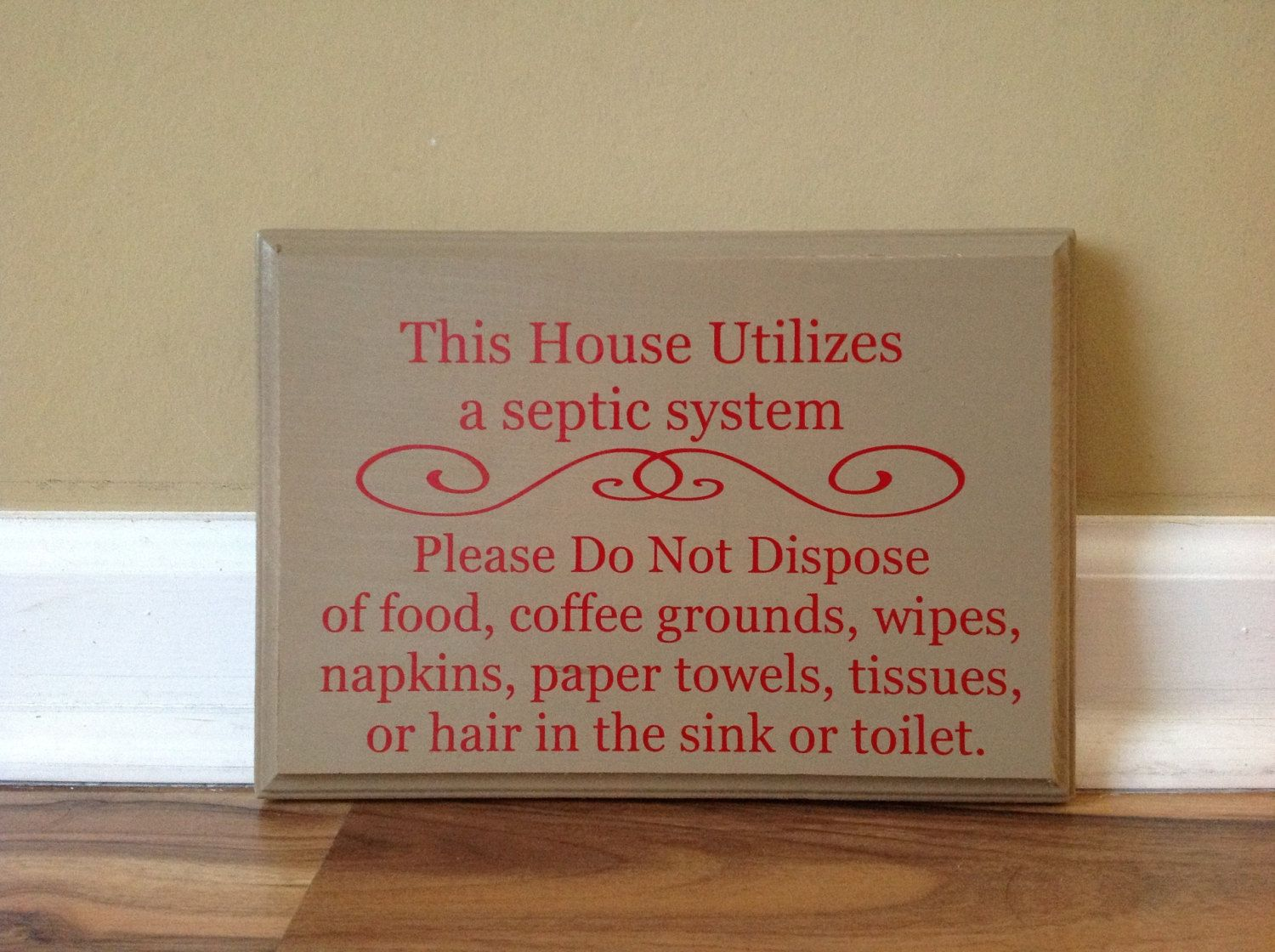 Septic System Info Signs Google Search Beach House Pinterest - Bathroom signs for home for bathroom decor ideas
