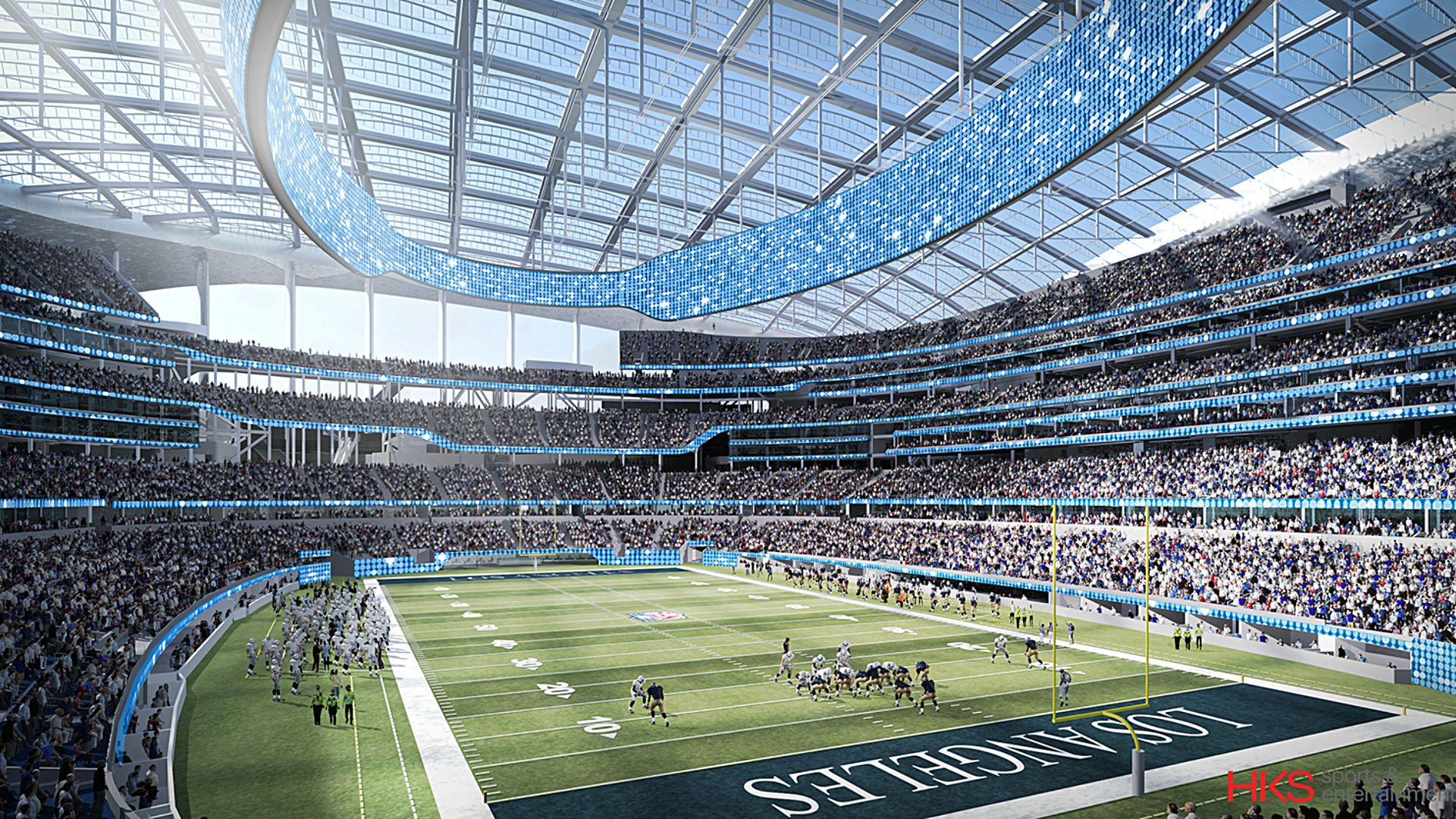 La Rams Stadium Architect Details Facility Design In Inglewood Nfl Stadiums Stadium Inglewood