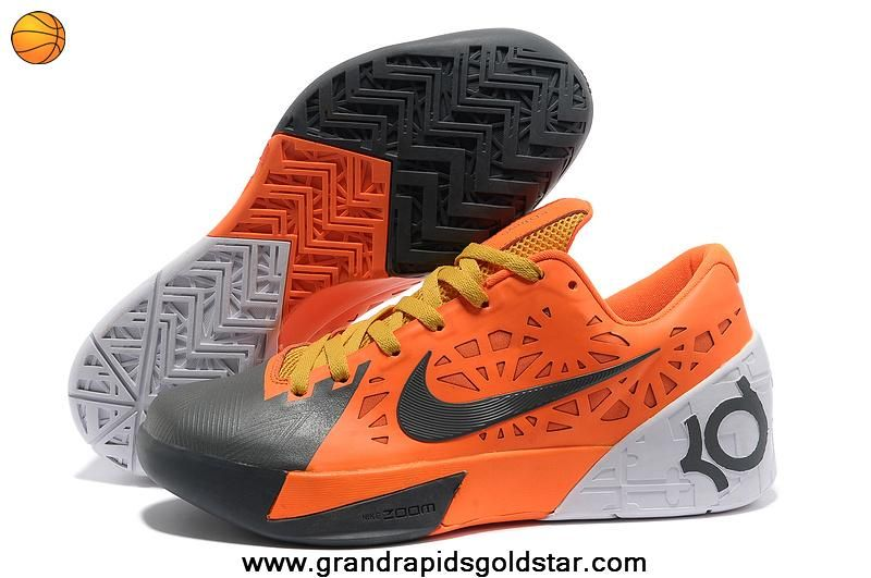 Cheap Nike Zoom KD 6 Orange Grey White Sale Online