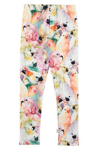 molo 'Niki' Floral Print Leggings (Little Girls & Big Girls)