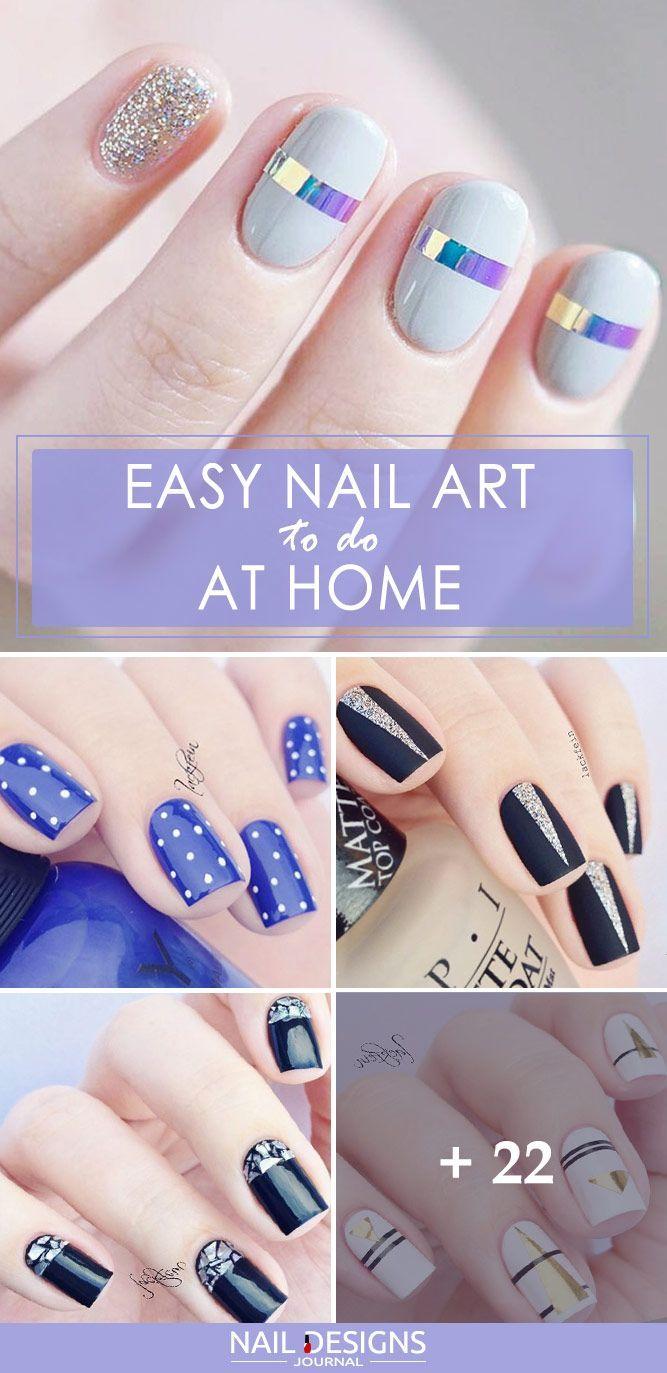 27 Simple Nail Designs For Short Nails To Do At Home Nail Art