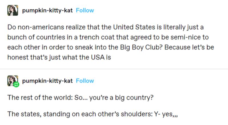 Tumblr Thread: The USA Explained