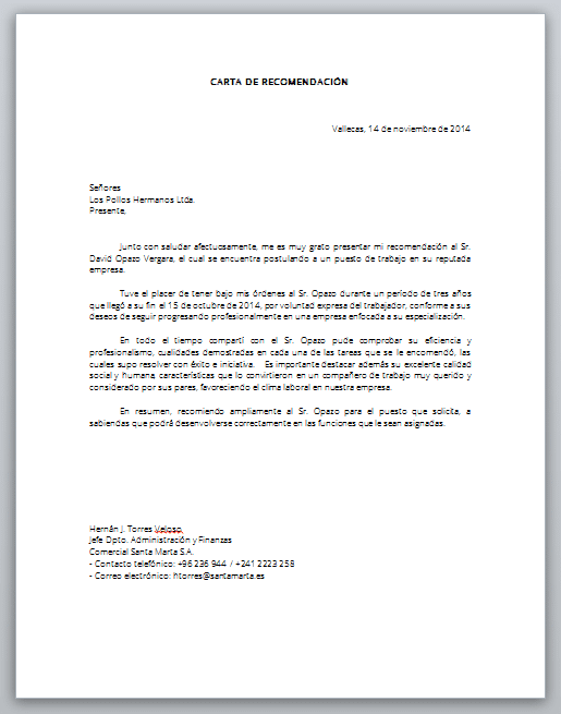 Word Descarga Formato Carta De Recomendación Laboral Cartas De Recomendacion Formato De Carta Carta De Referencia