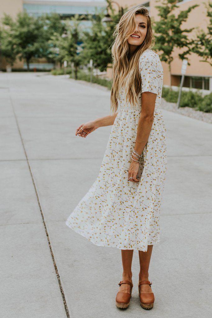 Avalon Floral Midi – fashion beauty