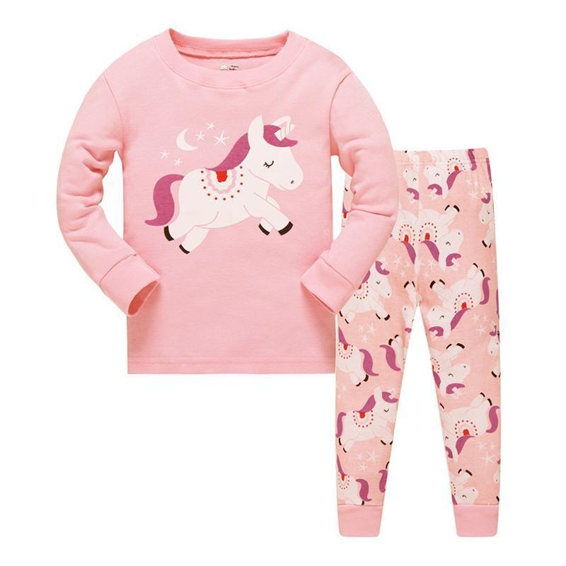 Baby Clothing Set Kids Pijamas Girls Unicorns Cotton Children Pajamas  Toddler Long Sleeve Cartoon Sleepwear Pyjama 08cb103c0