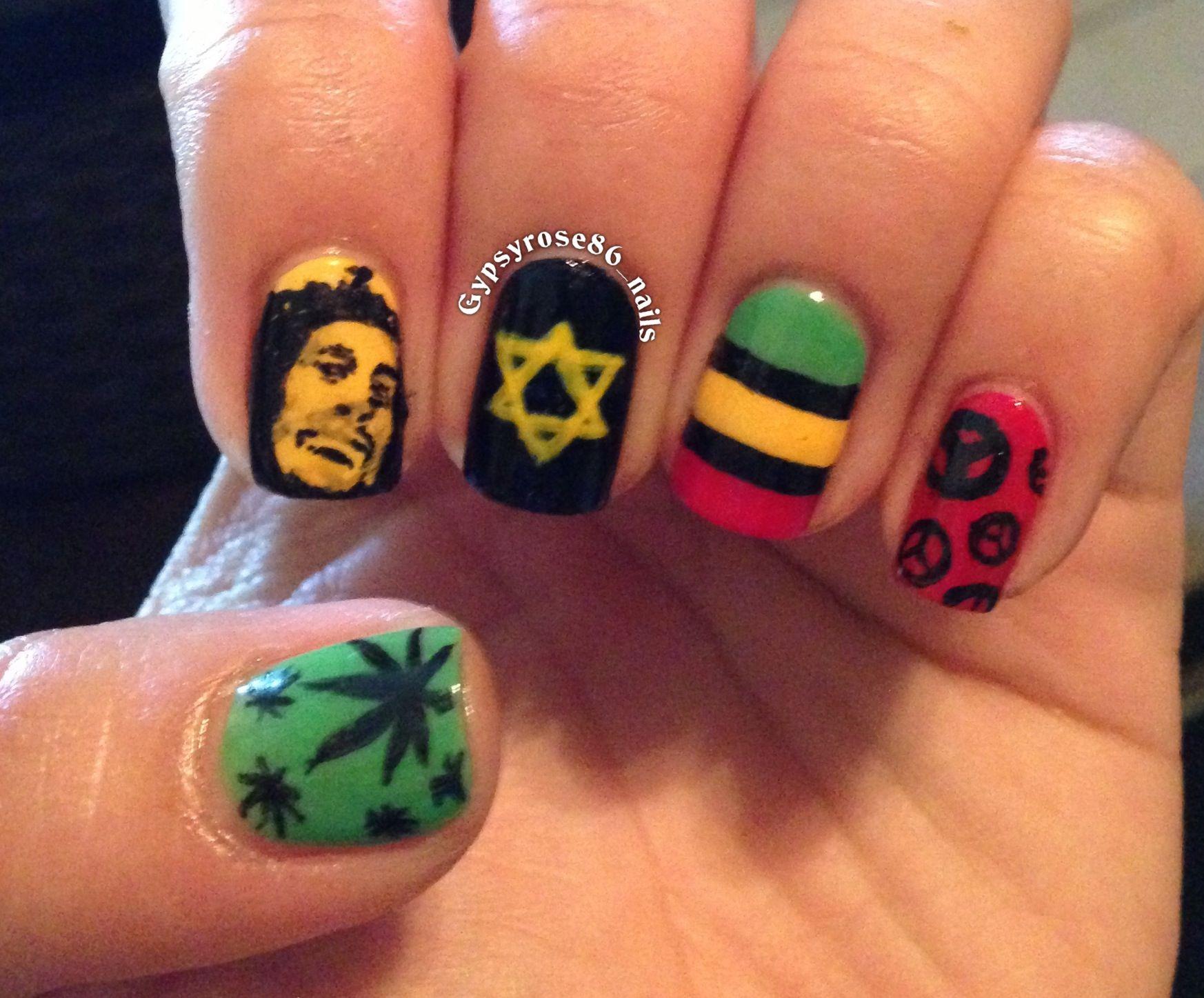Rastafari Nails Unas Pinterest Unas