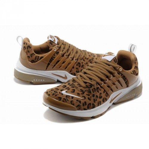 best website 4e2ae 422ad Leopard look print Nike shoes brown   Nike Air Presto Leopard Print  Anti-Fur Running Shoes - Brown White
