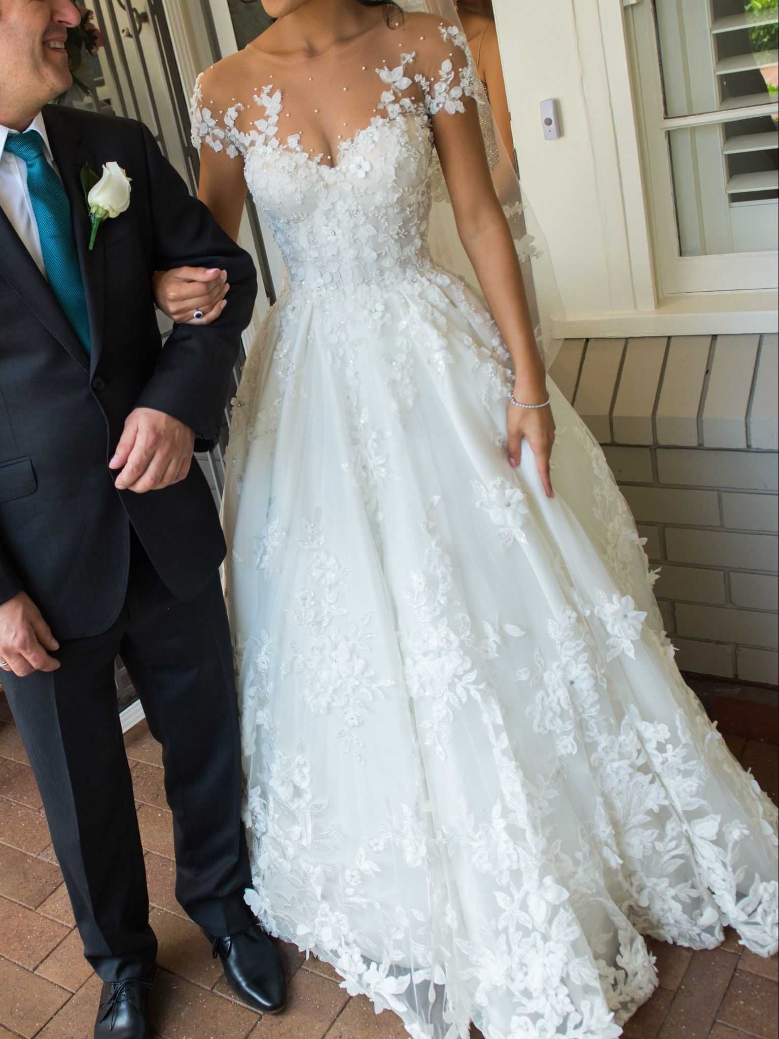 Steven khalil custom made wedding dress on sale off put a ring