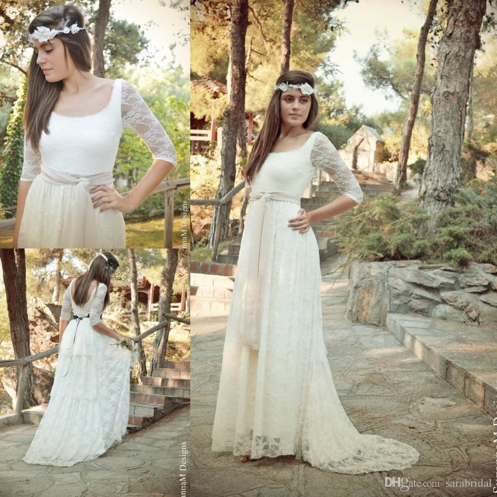 2018 Bohemian Wedding Dress Plus Size Womens Dresses For Weddings