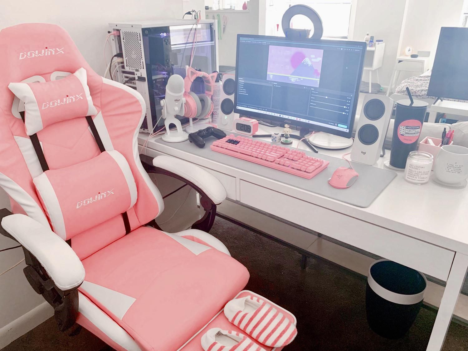 My pink Sakura battlestation #gamerroom