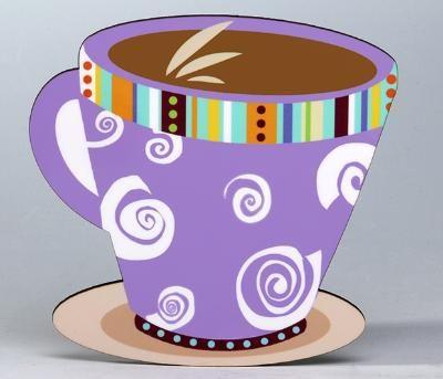 Coffee Mug/Swirls Coaster