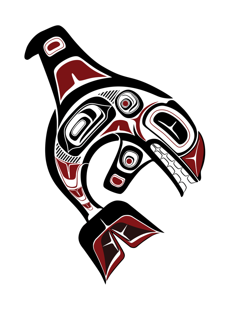 First Nations Native Haisla Orca Pod Family Sticker Vinyl Decal Indian Art