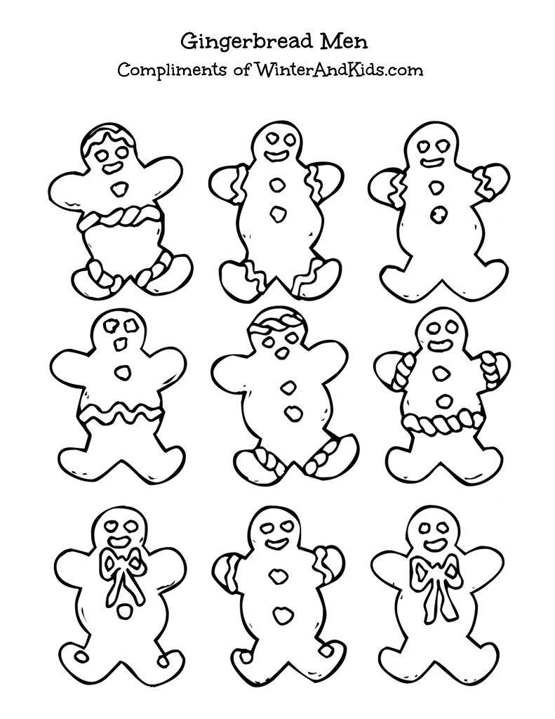 Free Printable Gingerbread Men Printable Christmas Gingerbread Crafts Gingerbread Man Coloring Page Christmas Season Greetings Coloring Pages