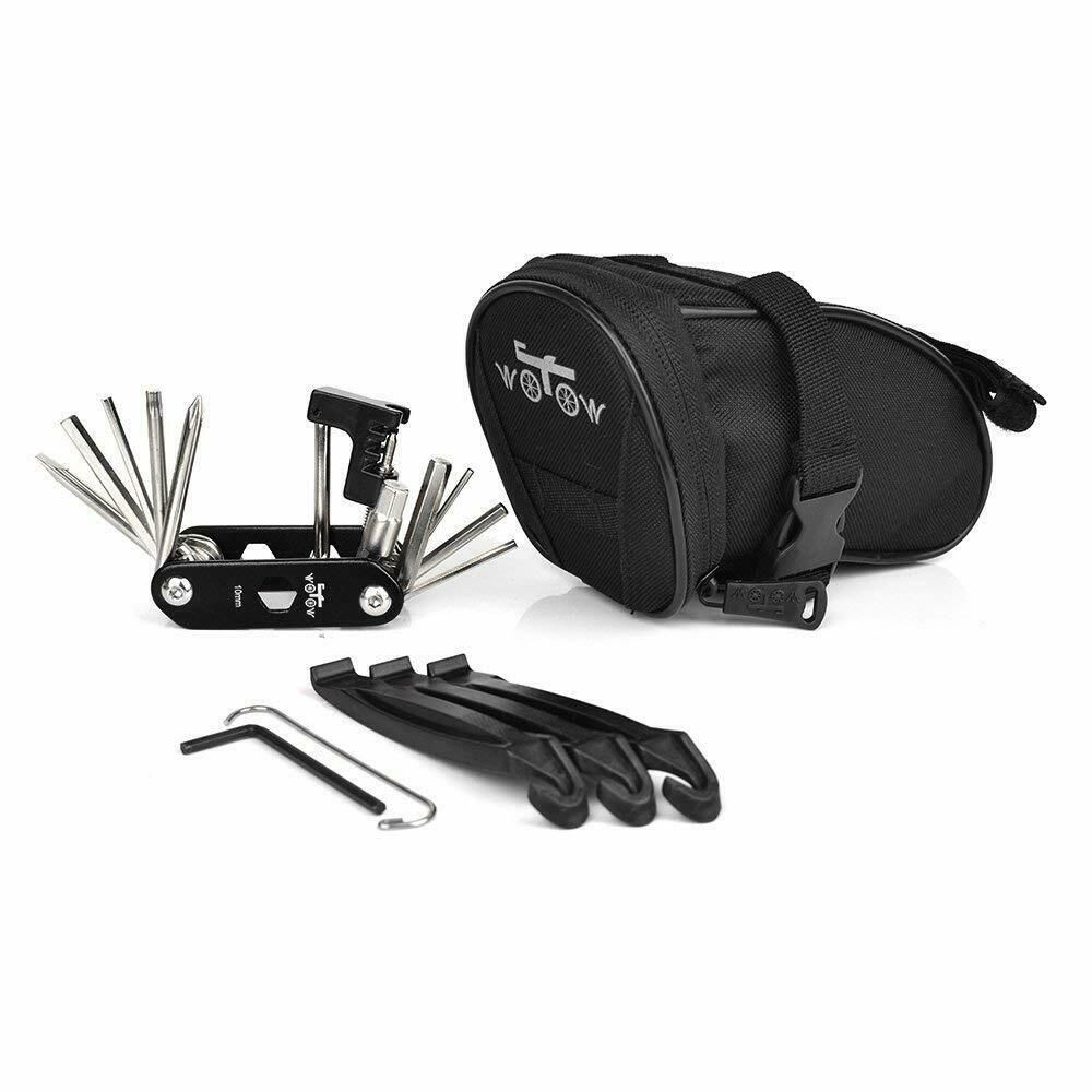 Details About Bike Repair Tool Kits Saddle Bag Bicycle Repair Set