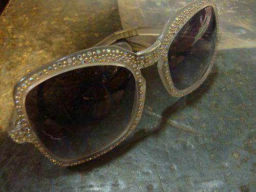 1960s EYE Benders BIG EYE Folding Rhinestone Sunglasses SUN Glasses Carnaby | eBay