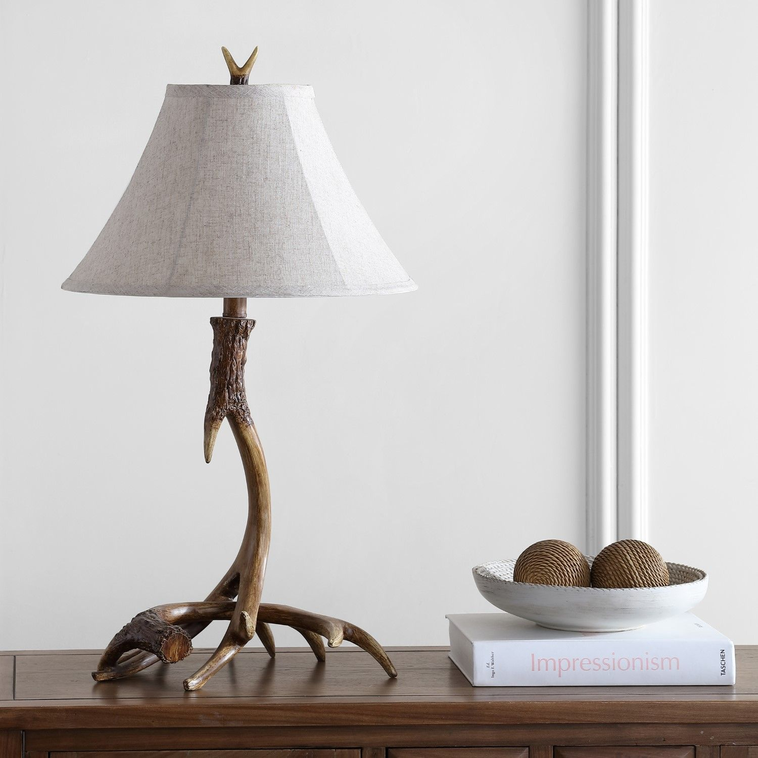 Brisbane 27 5 Rustic Resin Led Table Lamp Brown Rustic Table