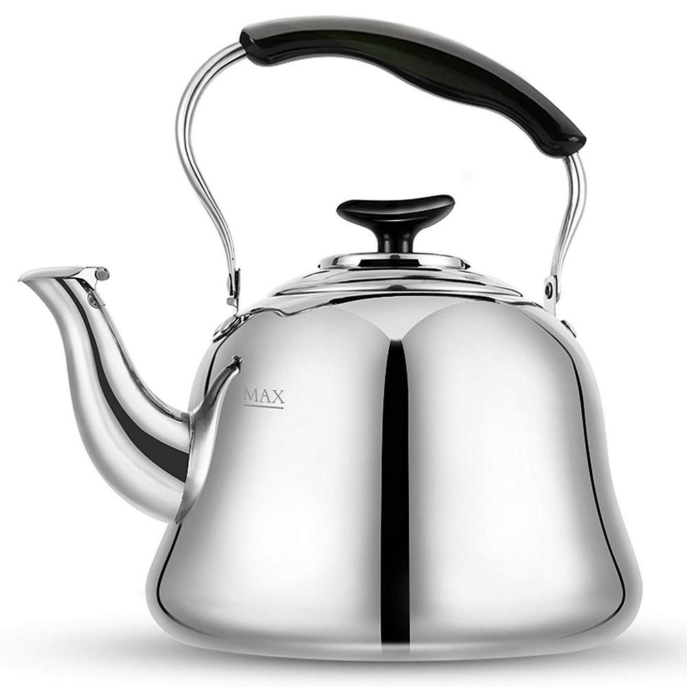 Tea Kettle Whistling 2.1 Quart Stainless Steel Stove Top Teapot Hot Water