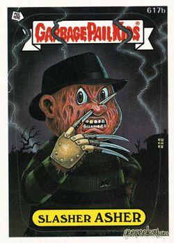 Halloween Nightmare Elm Street Garbage Pail Kids Geepeekay Garbage Pail Kids Garbage Pail Kids Cards Pail