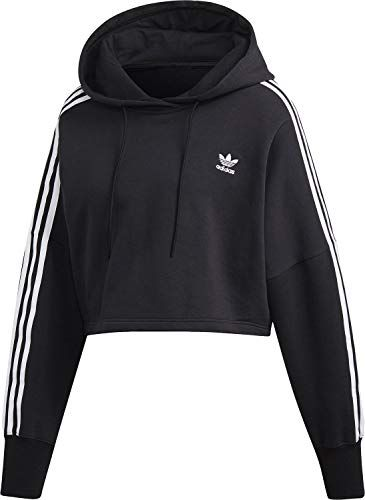 adidas Damen Cropped Hoody Black 32   Fitnessbekleidung in