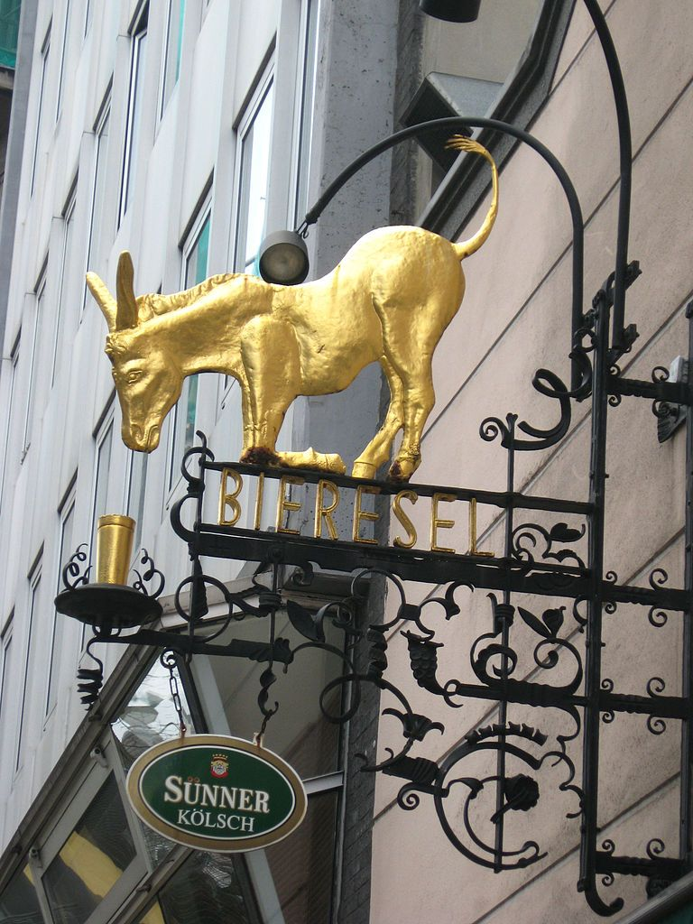 The Beer Donkey is a well known inn (more than 700 years old opened) in Germany.