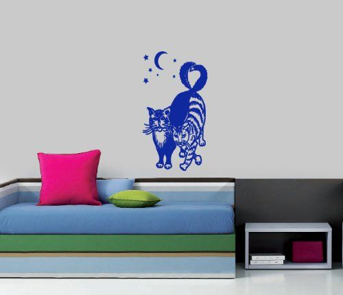 Housewares Vinyl Decal Cats in Love At Night Home Wall Art Decor Removable Stylish Sticker Mural Unique Design for Nursery Room Decal House http://www.amazon.com/dp/B00D84KGY0/ref=cm_sw_r_pi_dp_DtVTtb0J1F6RHZJ5