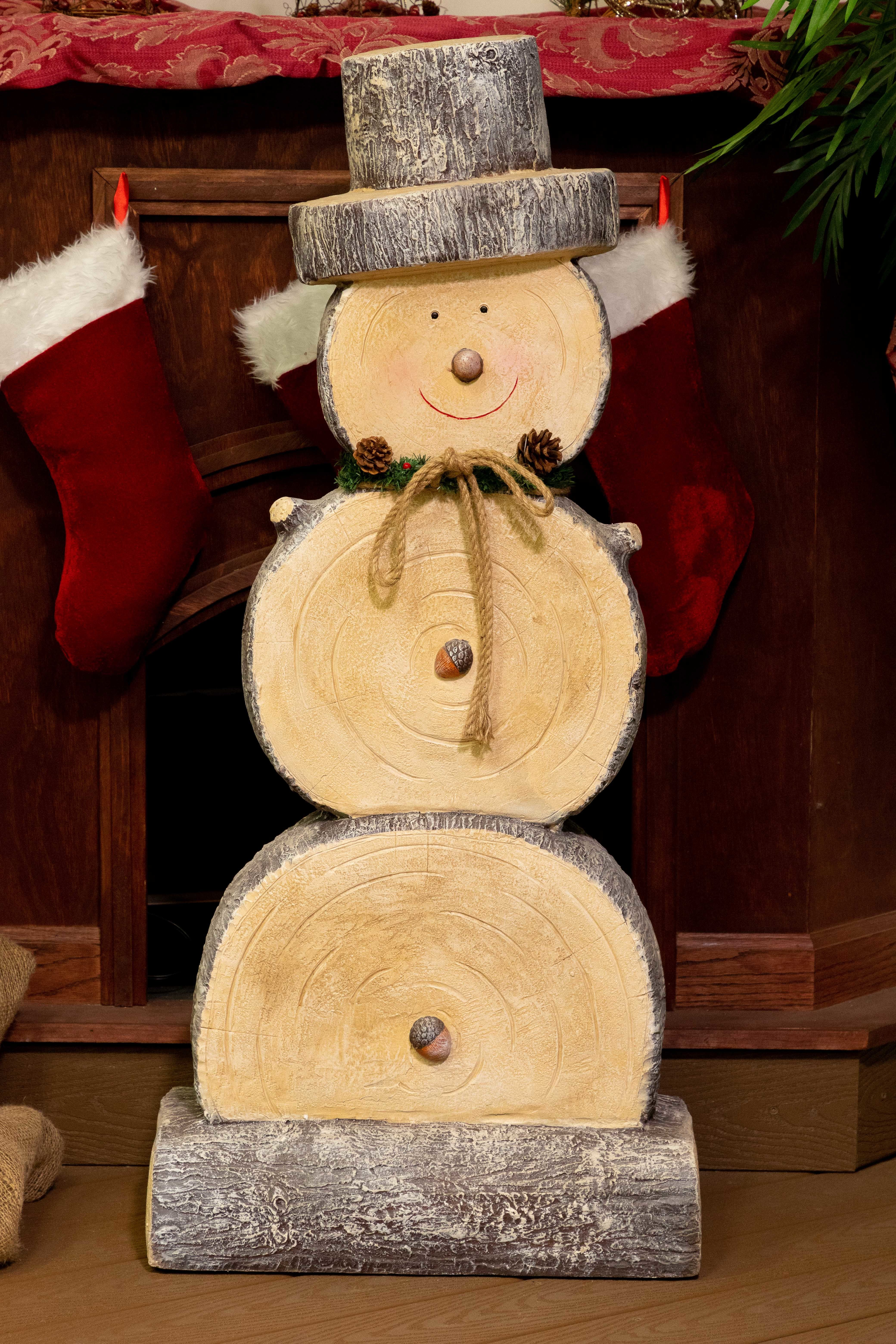 Wooden Snowman Statue Christmas Wood Crafts Christmas Crafts Decorations Wooden Christmas Crafts