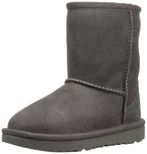 UGG Kids T Classic II Boot, Grey, 11 M US Little Kid UGG