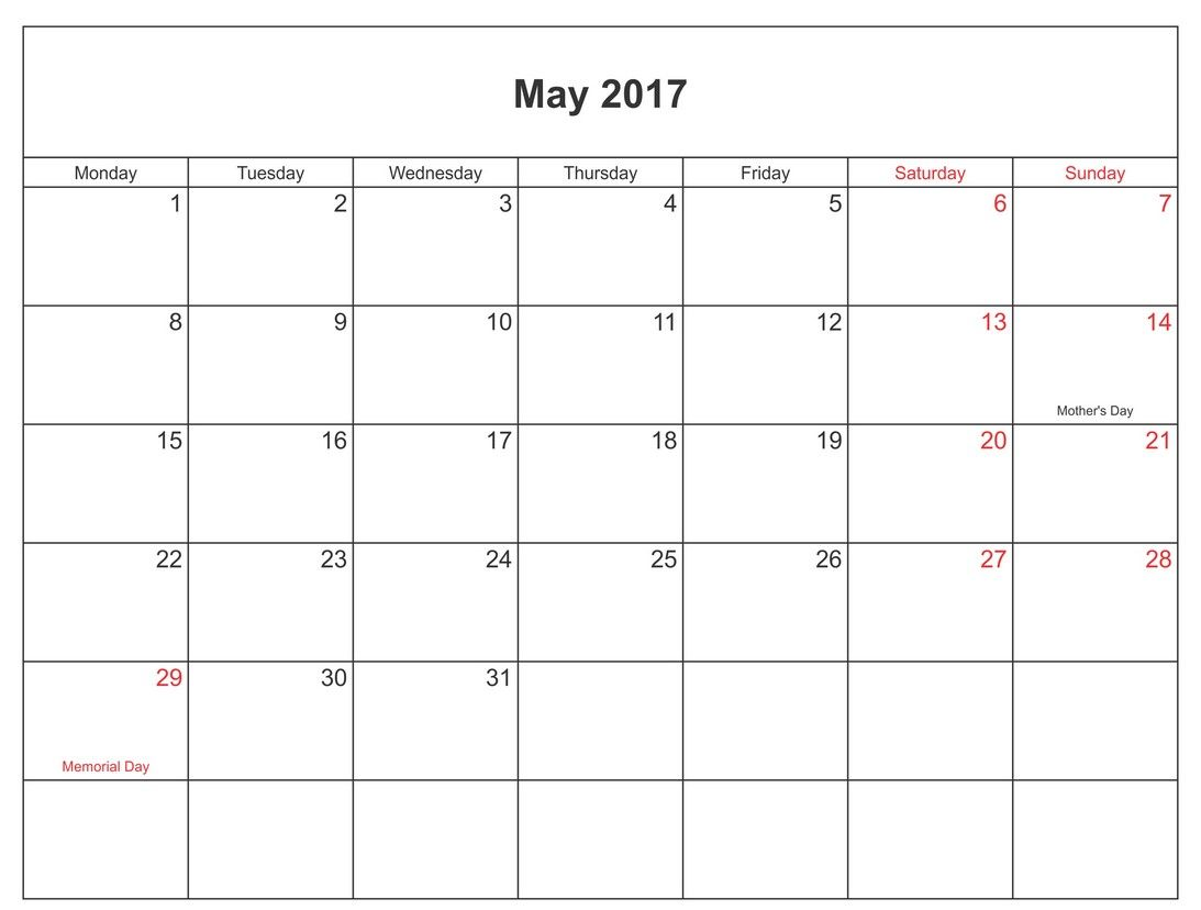 Download May Calendar With Holidays