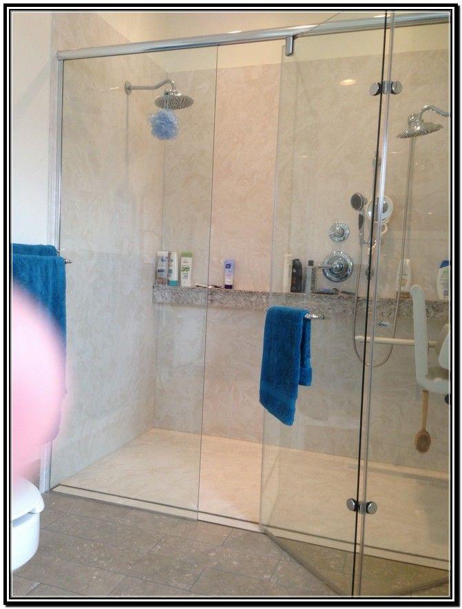 shelfledge all the way across the shower wall hydroslide