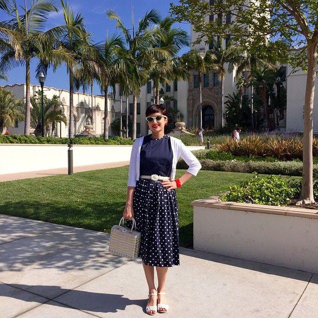 "100 Likes, 9 Comments - Shauna Marissa Marshall (@midcentury_girl) on Instagram: ""#ootd in Beverly Hills #vintage #1950sdress #losangeles #beverlyhills #ootdsocialclub"""