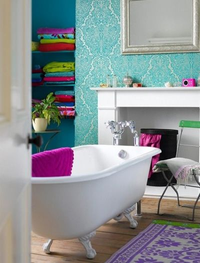 Color Trends For Home Decor 2013 14 Trendy Bathroom Deco - Deco Wc Fille