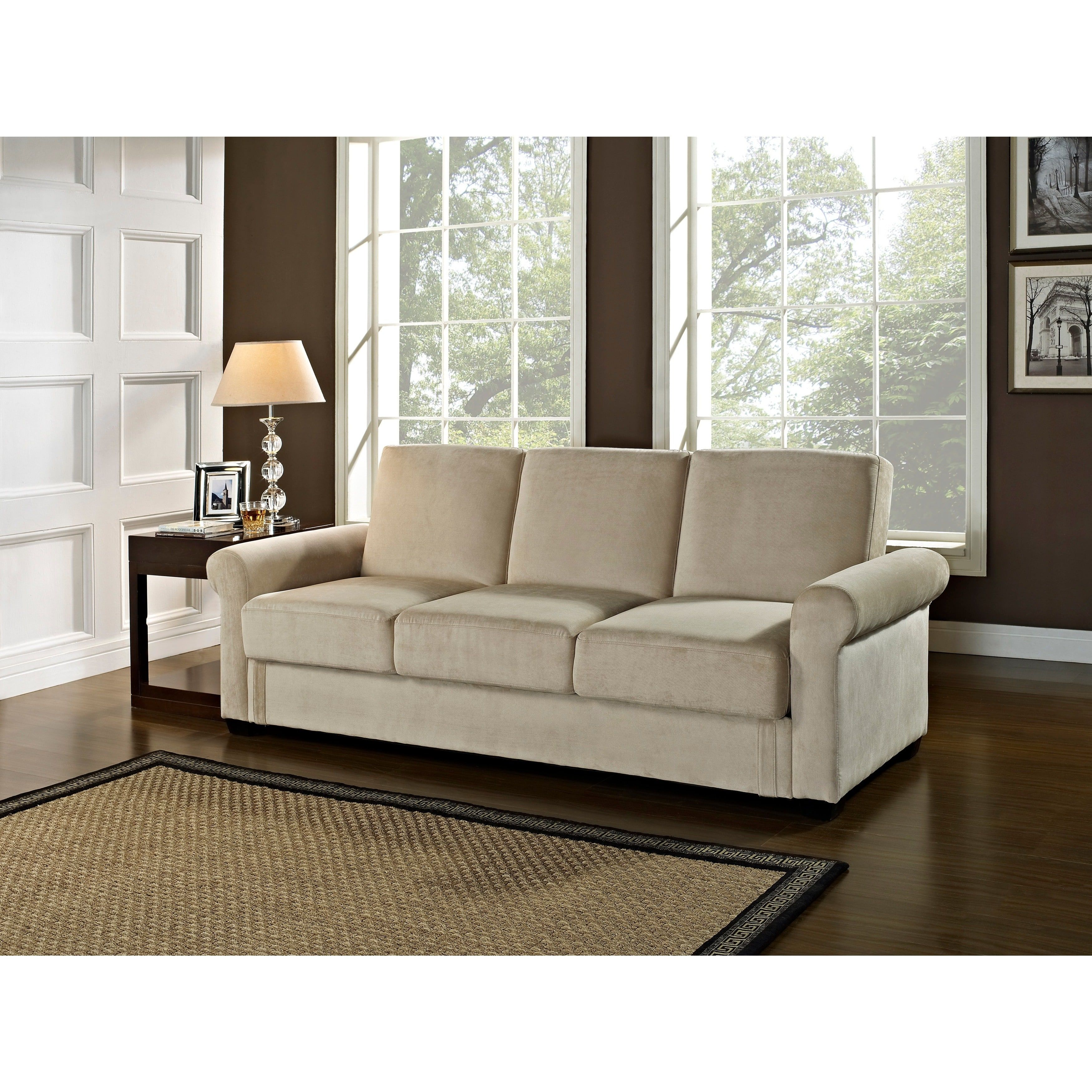 Best Serta Toronto Convertible Sofa By Lifestyle Solutions 400 x 300
