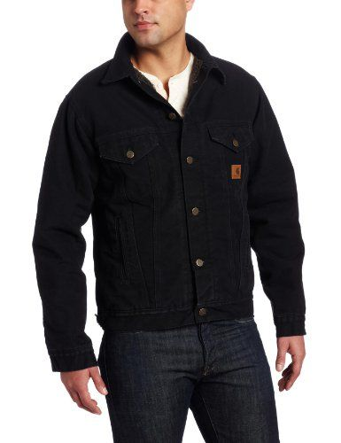 891dec69184 Best Offer  Carhartt Men s Big   Tall Jean Jacket Sherpa Lined Sandstone