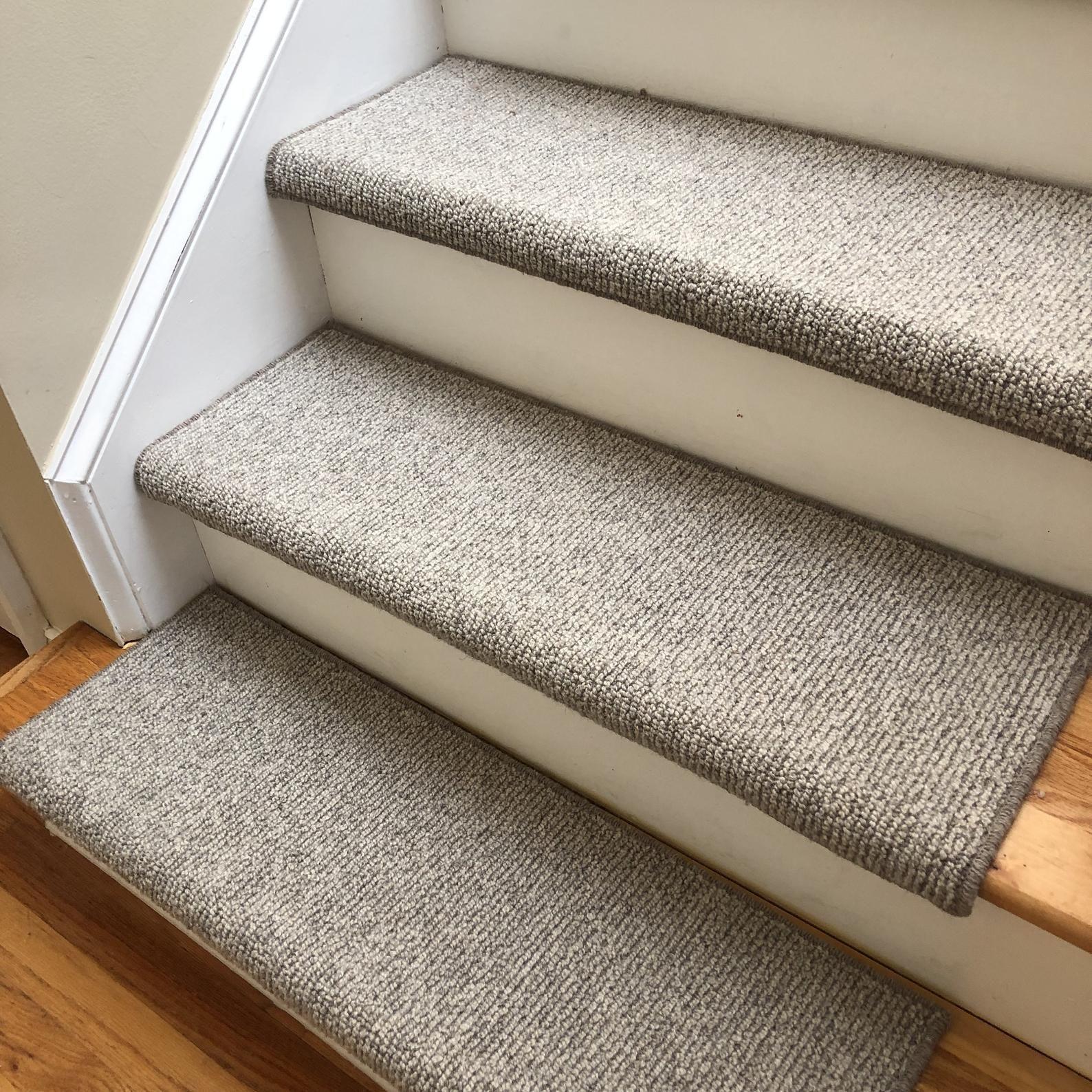 Big Sky 100 Wool True Bullnose™ Padded Carpet Stair Tread Jmish   Cheap Carpet Stair Treads   True Bullnose   Hallway Carpet   Carpet Runners   Slip Resistant   Bullnose Carpet