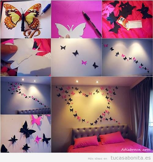 Ideas Para Decorar Pared Con Mariposas Butterfly Wall Decor Cute Wall Decor Butterfly Wall Art