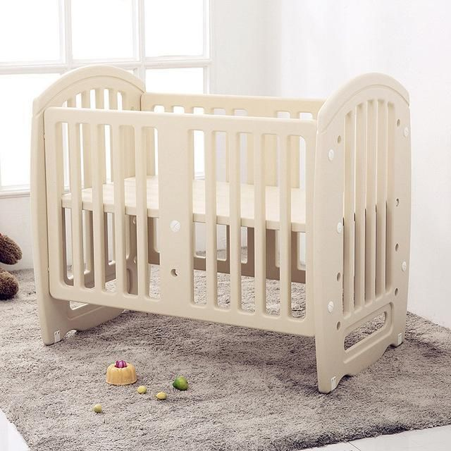 Baby Cot Non-Toxic Pe Plastic Material Crib For Infant ...